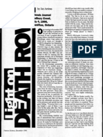 """Light on Death Row"" by Jan Arriens (FJ Dec 1996)"