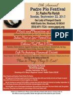 Padre Pio Festival Flyer