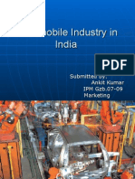 Automobile Industry in ppt ankit kumar