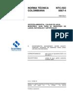 NTC-ISO 5667-4