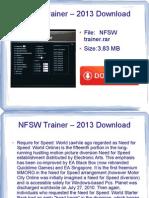 NFSW trainer