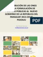 Contribuci_n de Las Ongs, 2013 2018