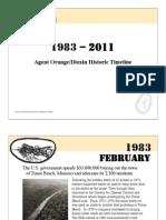 Vietnam Agent-Orange Timeline 2011