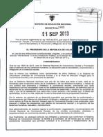 Decreto 1965 Del 11 de Septiembre de 2013