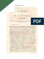 GARRETT Carta de M. Scevola, 1830