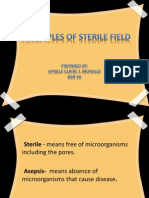 Principles of Sterile Field and definitions  or romm presentation