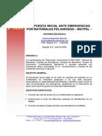 Respuesta Inicial Emergencias MAPTEL