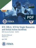 FEMA ICS200_Student Manual