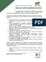 4.-Politica de Seguridad, Salud y Ambiental