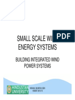 Small Scale Wind Energy Systems