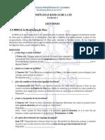 ENSEÑANZAS BÁSICAS DE LA FE I Lecciones