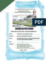 Caracterización de la calidad Microbiológica del agua