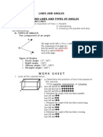 WORK SHEET OF ANGLES