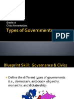 types of government powerpoint and game