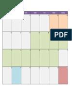 Calendário de estudos