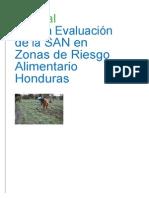 UTSAN Manual Evaluacion SAN Zonas Riesgo Alimentario Honduras