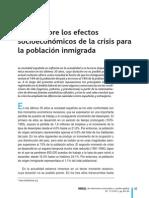 Efectos de la crisis en la sociedad española