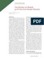 CGRP35 - Pioneering Women on Boards