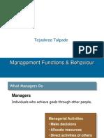 Management Functions & Behaviour