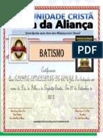 Certificado Elaine Cavalcante