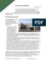 Engineering Concerns in Metal Roofing