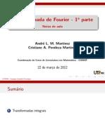 Aula 01- Transformada Fourier 1