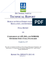 DNV Comparison of Offshore Structural Standards