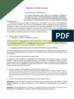 PRUEBA DE FARMACOLOGÍA