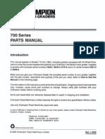 Champion Parts Manual
