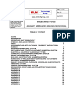 Project Standards and Specifications Numbering Systems Rev01
