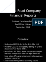 Bill Roberts-- How to Read Company Financial Statments; A Primer for Journalists