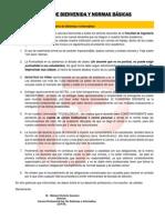 Carta de Bienvenida a Docentes Sistemas 2011-II Junio