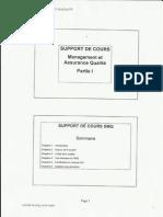 management et assurance qualité-partie I