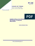 Análisis crítico de los modelos de pensión y propuesta alternativa- Ruíz