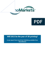 3D Printing Markets