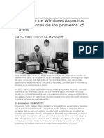 La Historia de Windows