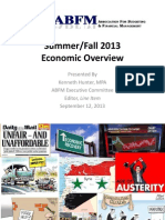 Summer/Fall 2013 Economic Overview