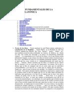 CONCEPTOS FUNDAMENTALES DE LA FILOSOFÍA PLATÓNICA