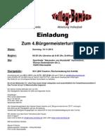 Einladung Bürgermeisterturnier 2013