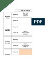 PGDM 2013-15 - Term 01 - Week 8- Time Table