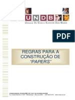 Regras para Construção de Papers - 2013