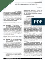 Los Polimeros en Formulaciones Detergentes (i)