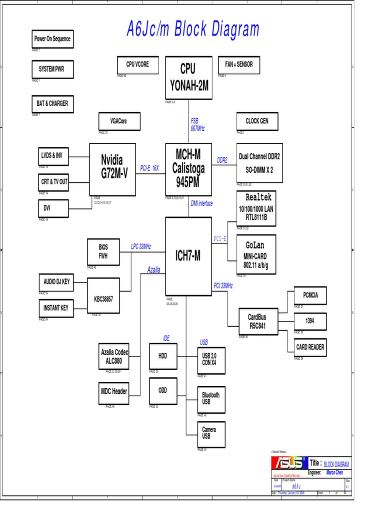 ASUS_A6J.pdf | Computer Hardware | Office Equipment on