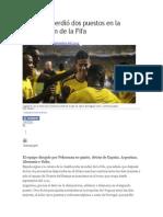 Colombia perdió dos puestos en la clasificación de la Fifa