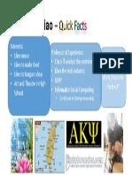 Kuan-Yu Hsiao – Quick Facts