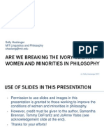 Haslanger (2011) Are We Breaking the Ivory Ceiling Women and Minorities in Philosophy