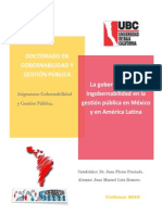 Monografia gobernabilidad ingobernabilidad México y América Latina