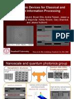 Nanophotonic Devices