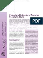 Instituto Naciones Unidas Desarrollo Social - Potencial de la Economía Social y Solidaria