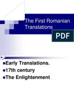 History of Romanian Translation